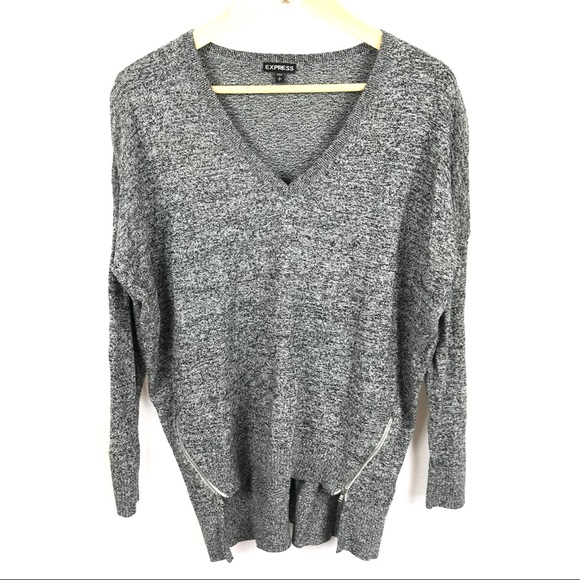 8d0887d0126 Express oversized loose heather grey sweater